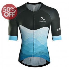 Discount  2017 VelomayKa Best Yesterday Dragonfly Wave Black/Blue Cycling jersey