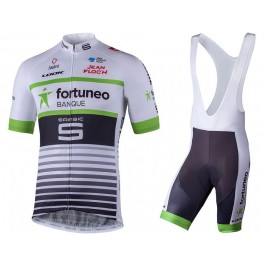 2018 Fortuneo Banque White Cycling Jersey And Bib Shorts Set