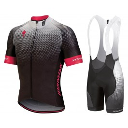2018 SPED IDT Black-Pink Cycling Jersey And Bib Shorts Set