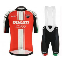 2019 Ducati Red Team Cycling Jersey And Bib Shorts Set