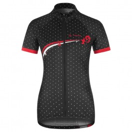 2017 Vaude Flower With Dot Black-White Cycling Jersey