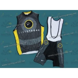 10 Livestrong Team Cycling Vest and Bib Shorts Set