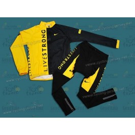 2009 Livestrong Thermal Cycling Long Sleeve Jersey And Pants Set