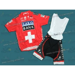 2010 Saxo Bank Swiss Champion Cycling Jersey and Bib Shorts Set