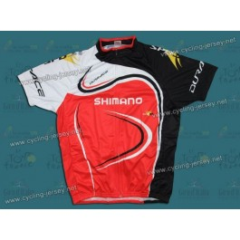 2011 Shimano Dur-ace Balck And Red Cycling Jersey