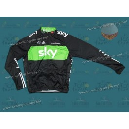 2011 SKY WWF Green Thermal Cycling Long Sleeve Jersey