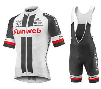 2018 Team Sunweb Giant Cycling Jersey And Bib Shorts Set