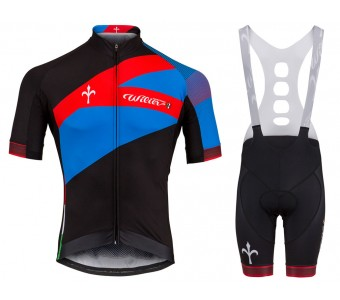 2018 Wilier Spark Blue-Red Cycling Jersey And Bib Shorts Set