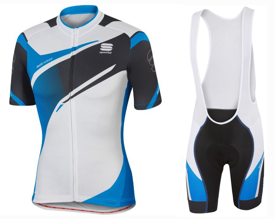 bbcd484e0 2016 Spоrtful Spark White-Blue Cycling Jersey And Bib Shorts Set