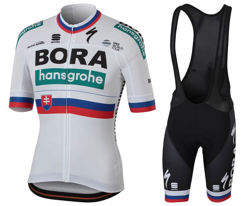 2018 Team Bora Hansgrohe Slovakia Champion Cycling Jersey And Bib Shorts Set