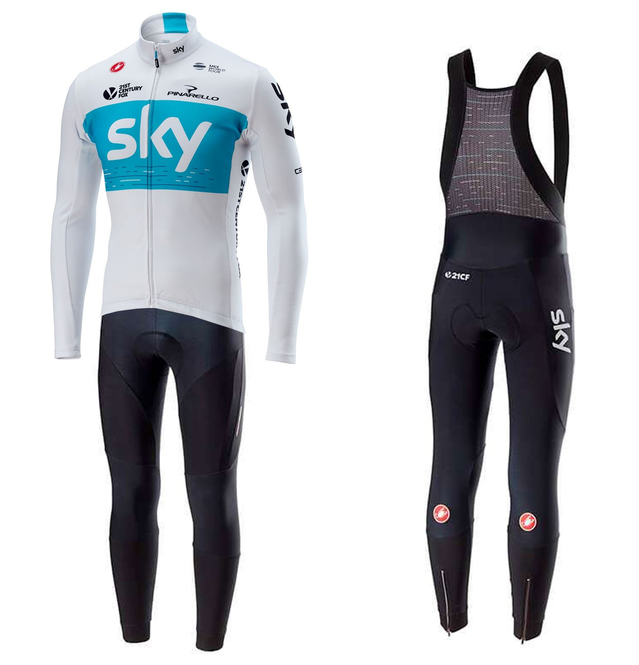 39d480b3d The most popular and cheap long cycling set - 2018 SKY Team White ...