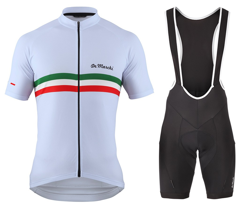 2016 De Marchi PT Italy Flag White Cycling Jersey And Bib Shorts Set 8c85a7fe7