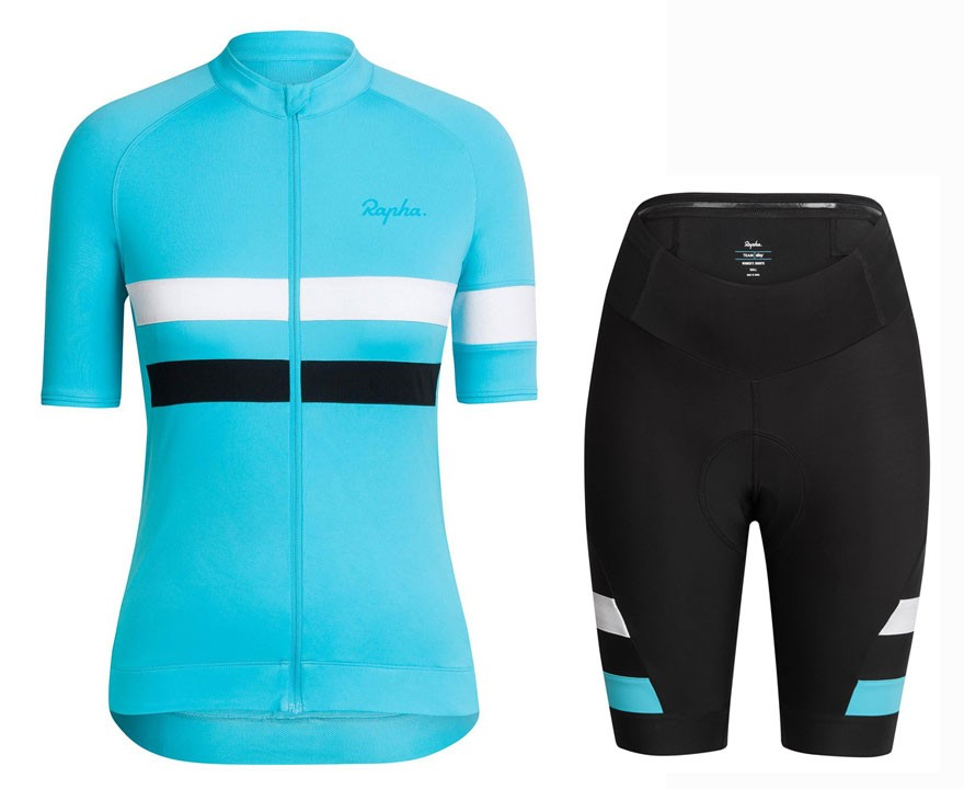 2016 Team Sky Blue Women Cycling Jersey And Regular Shorts Set 00adf2f93