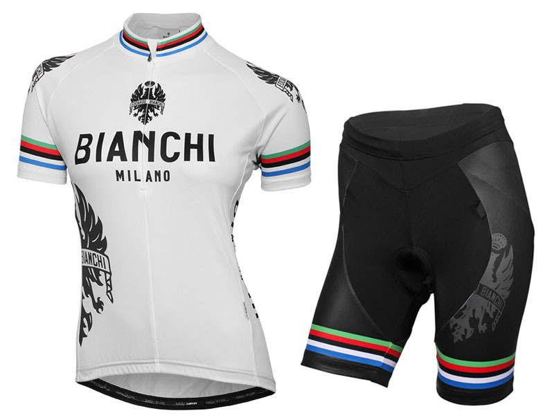 2016 Bianchi Milano Sorisol World Champion Women Cycling Jersey And Bib  Shorts Set fe0f318cb