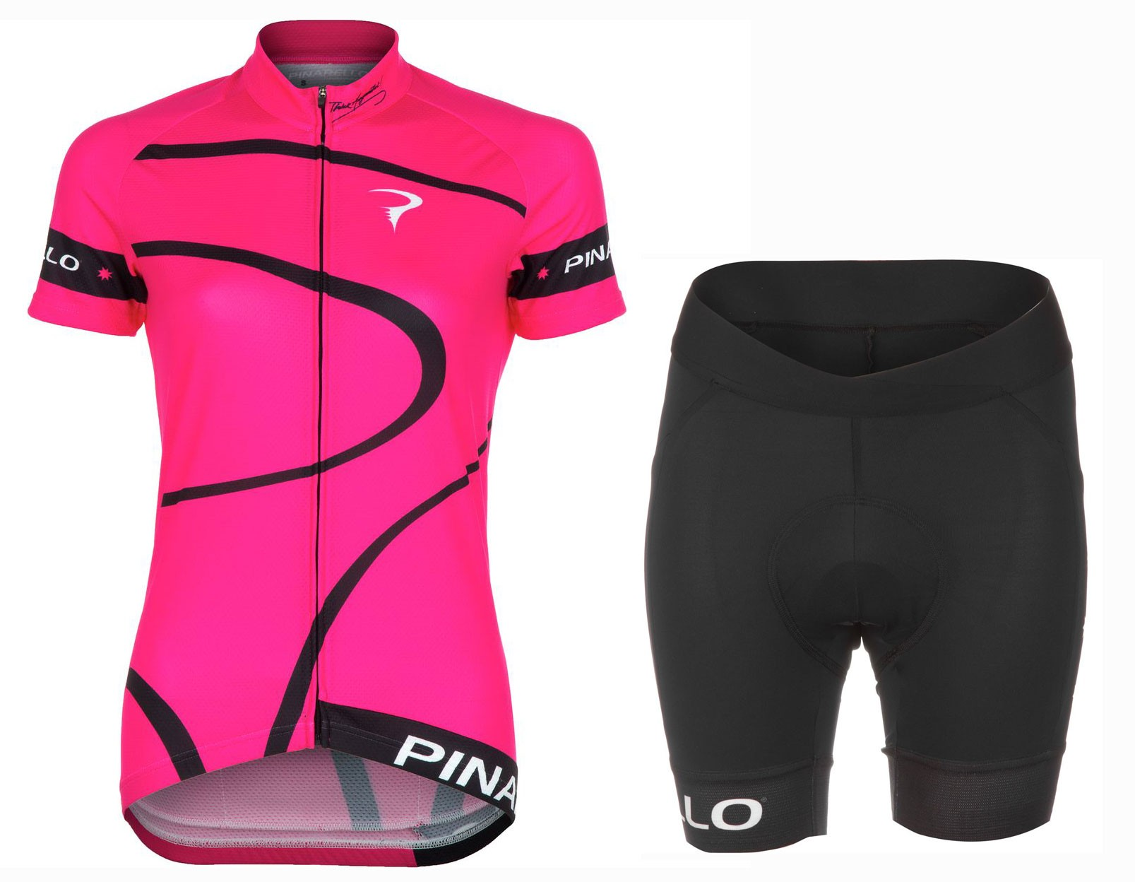 2016 Pinarello MIRA Pink Women Cycling Jersey And Regular Shorts Set ce44b3078