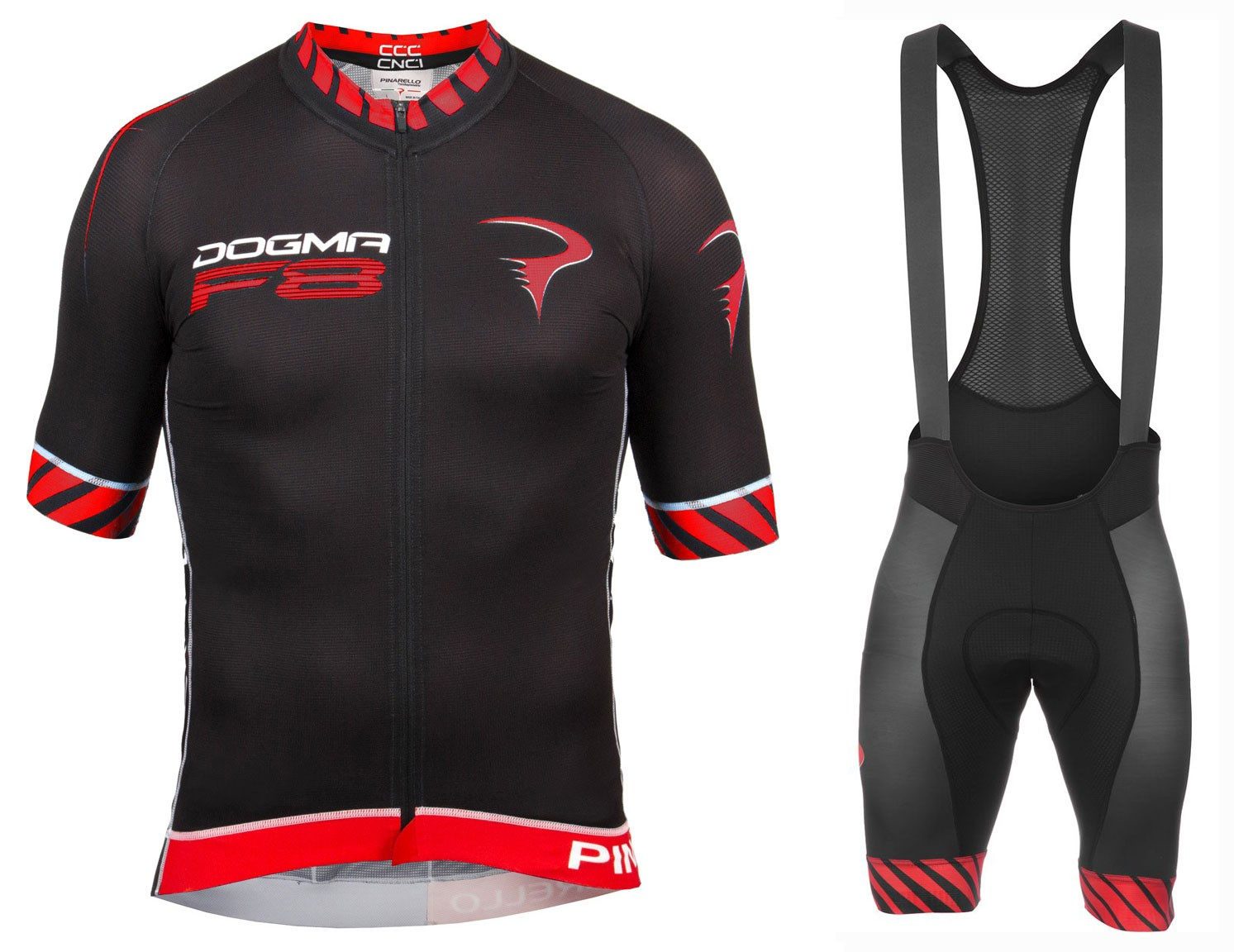 2016 Pinarello Dogma F8 Black-Red Cycling Jersey And Bib Shorts Set d36d6a282