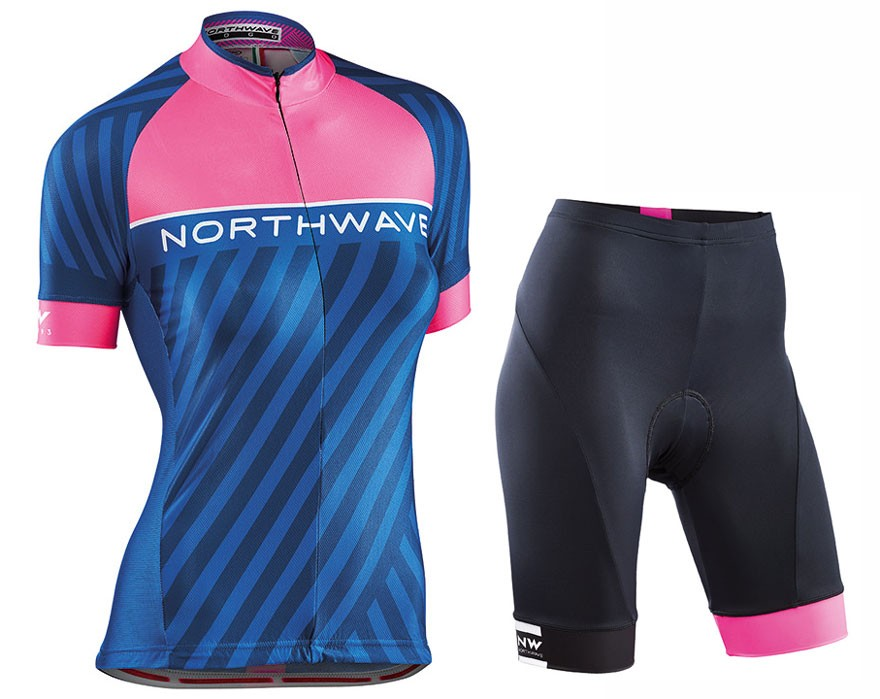 2017 Northwave Logo 3 Women s Blue Cycling Jersey And Shorts Set 7d6e63eda