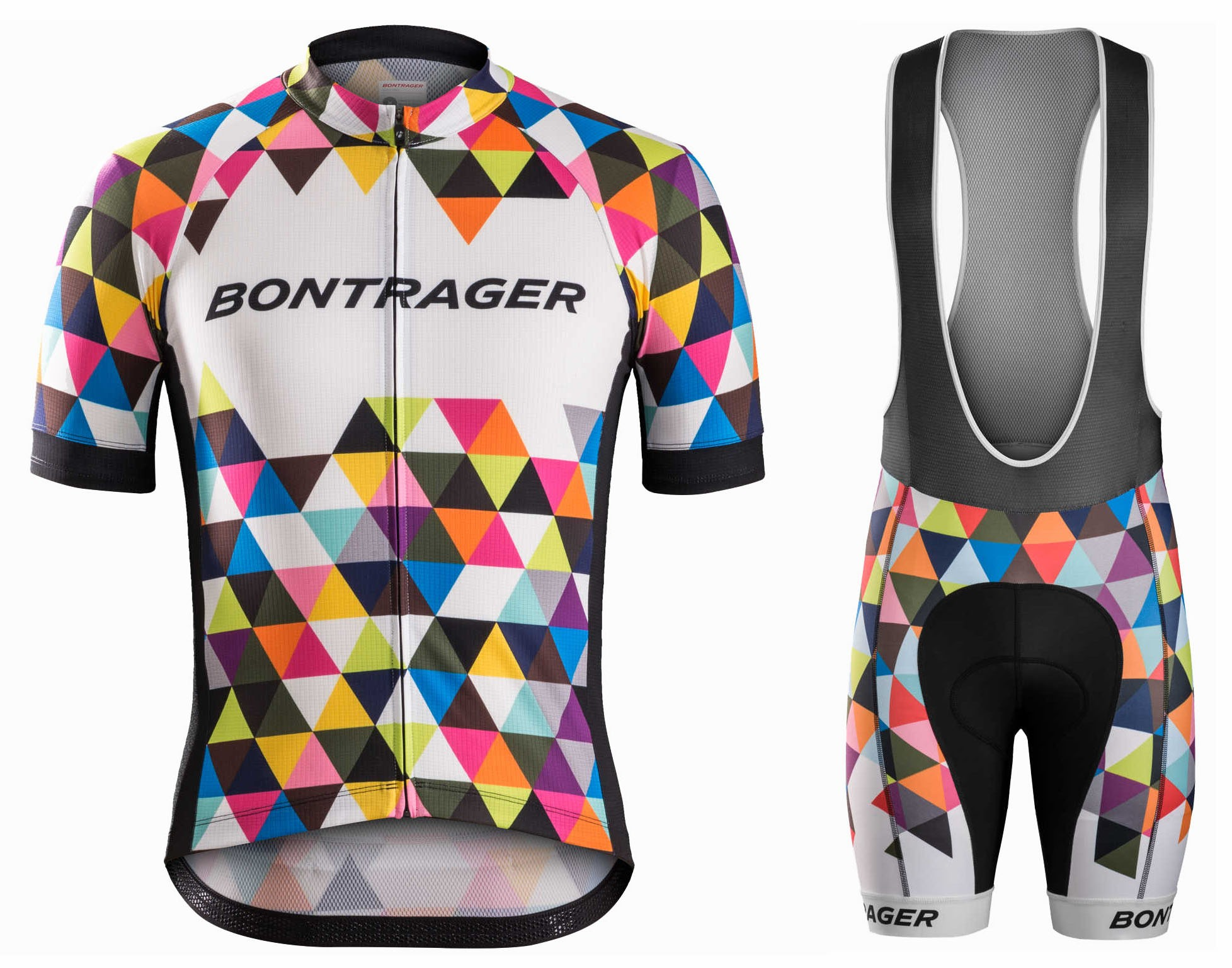 2016 Bontrager Specter Colorful Cycling Jersey And Bib Shorts Set d305f87ea
