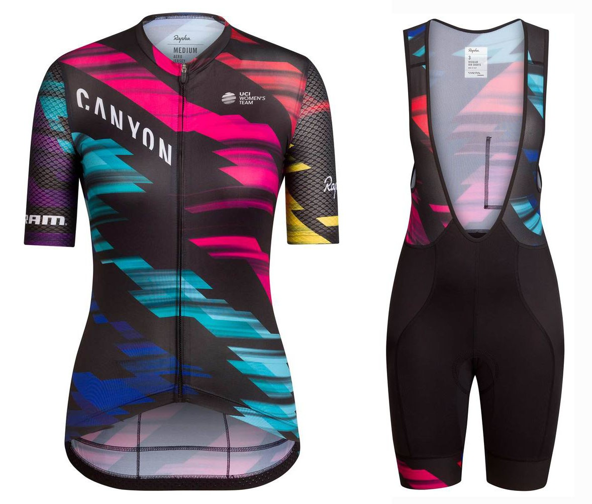 e49a90d8f 2016 Team Canyon Colorful Women Cycling Jersey And Bib Shorts Set