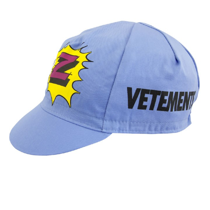 306338a20 The most popular and cheap cycling cap - Vetements Z Team Blue ...