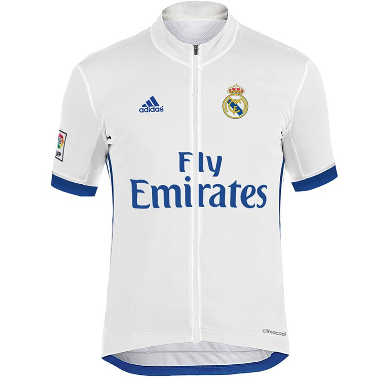cheap for discount 3361d eaa9b 2017 Team Real Madrid White Cycling Jersey And Bib Shorts Set