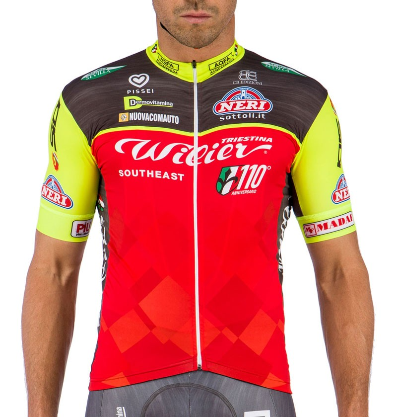 2016 Team Wilier Southeast Red-Fluo Cycling Jersey 28598fad7