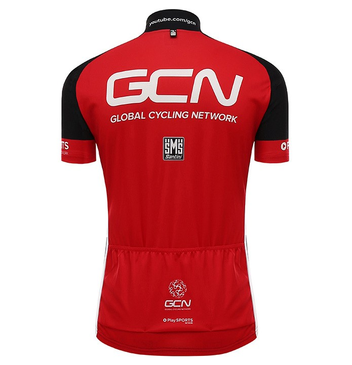 2016 Global Cycling Network GCN TDF Edition Black And Red Cycling Jersey And  Bib Shorts Set f78f004ec