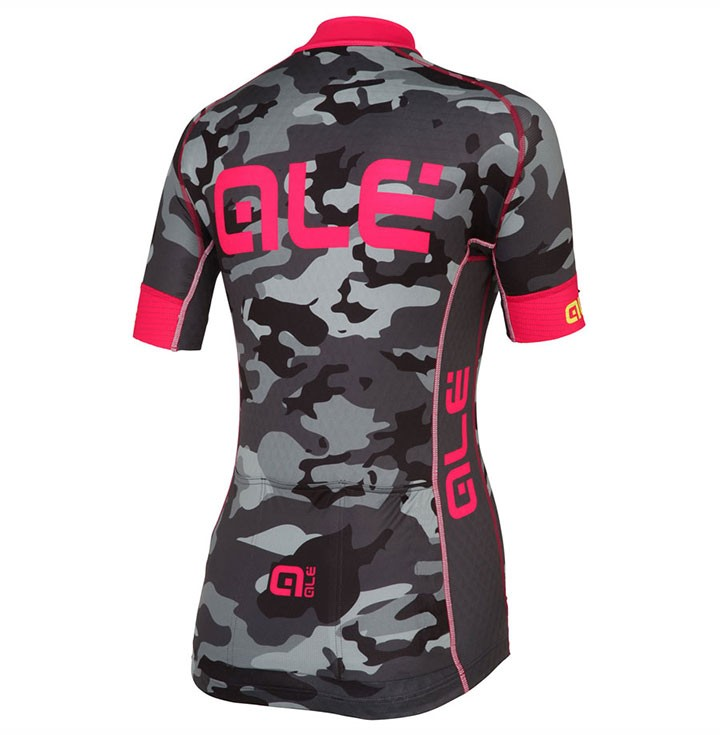 2017 Ale Graphics PRR Camo Women s Black-Pink Cycling Jersey And Bib ... 59c1412f5