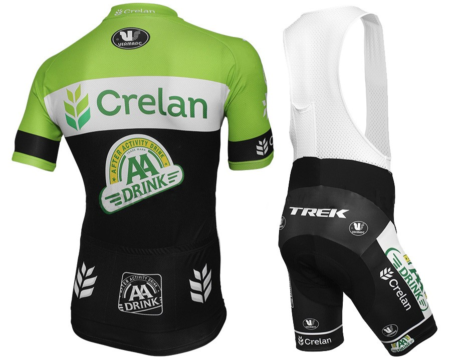0c6dda80b 2015 Team Crelan AA Drink Cycling Jersey And Bib Shorts Set