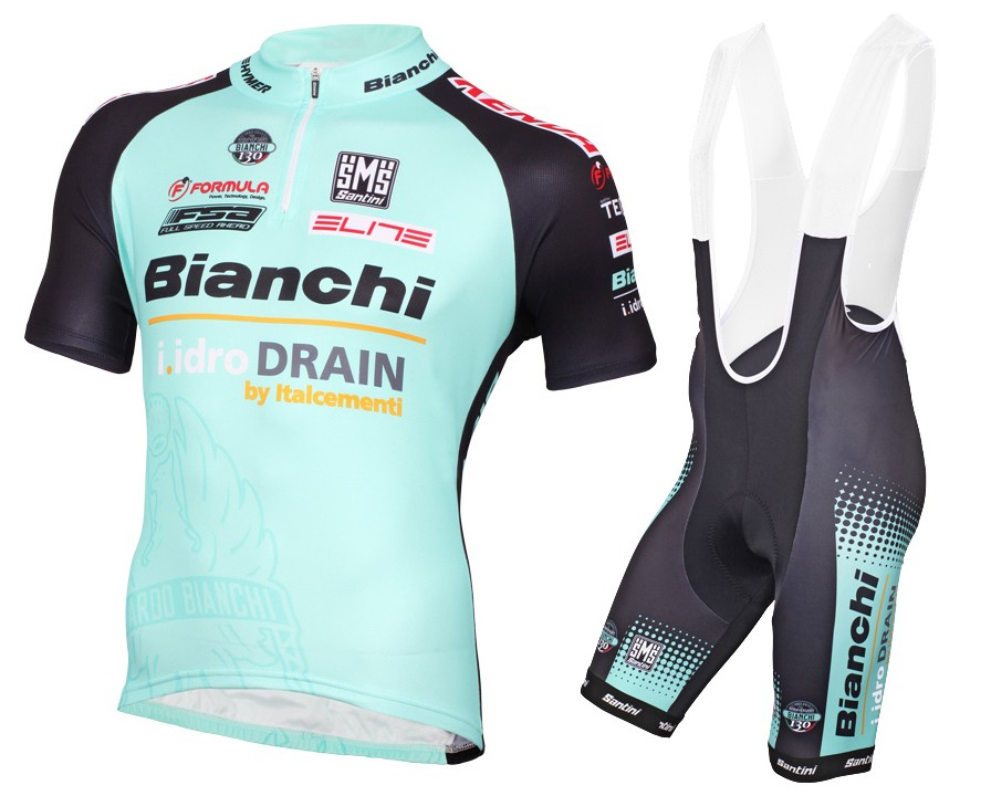 2015 Bianchi Active-TX Light Green Cycling Jersey And Bib Shorts Set 50e8375d7