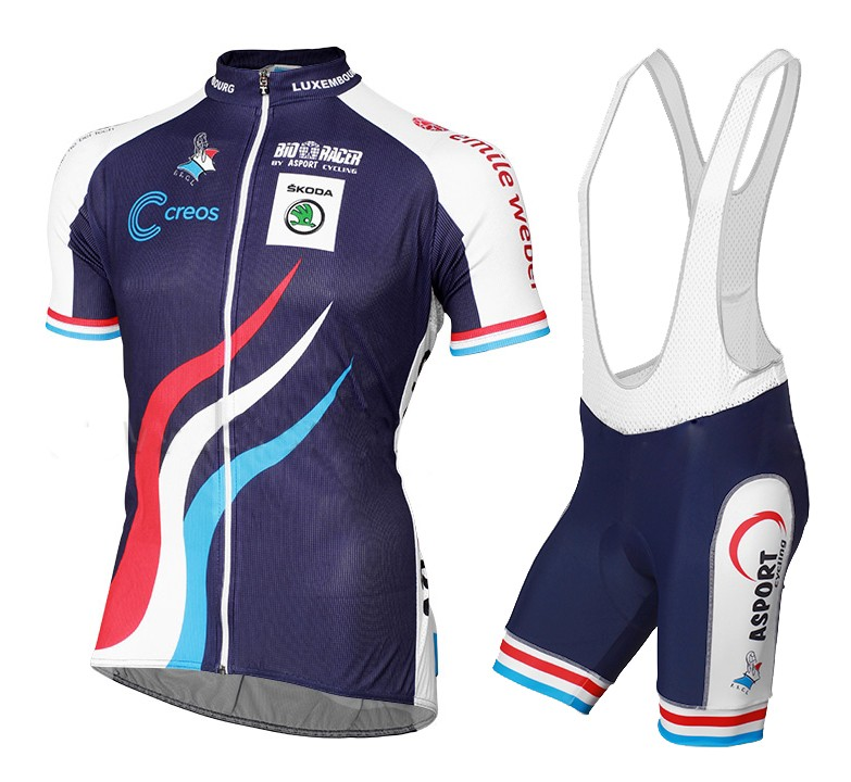 8f1a28321 2015 Luxembourg National Team Cycling Jersey And Bib Shorts Set