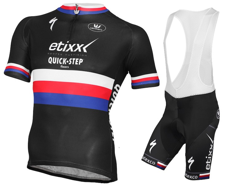 2015 Etixx Quick-Step Czech Champion Cycling Jersey And Bib Shorts Set 404bbeaf5