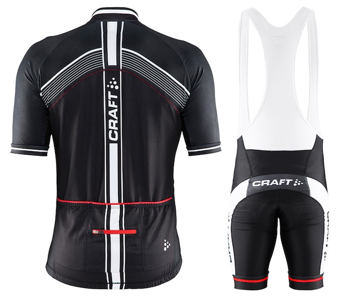 2015 Craft Bike Grand Tour Black-Red Cycling Jersey And Bib Shorts c65c4af0f