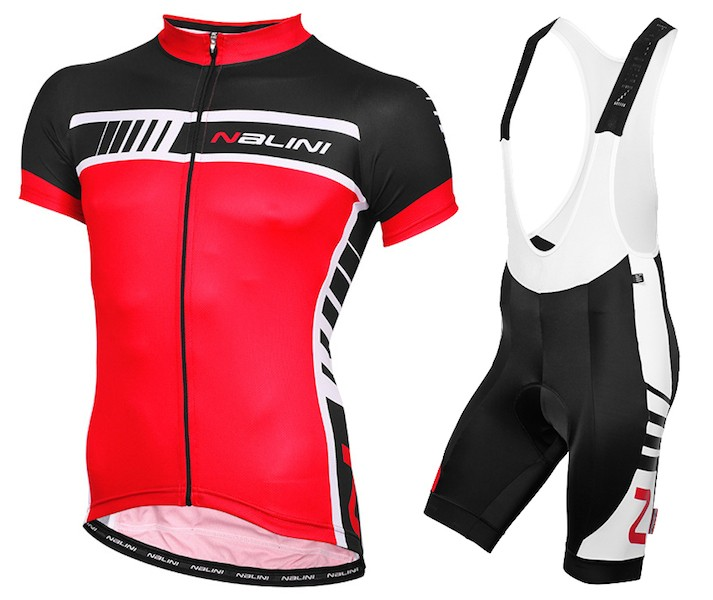 2015 Nalini Tescio Black-Red Cycling Jersey And Bib Shorts Set 4009c4a84