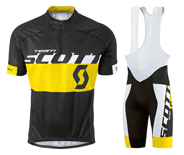 2015 Scott Team Black-Yellow Cycling Jersey And Bib Shorts Set 01e45328b