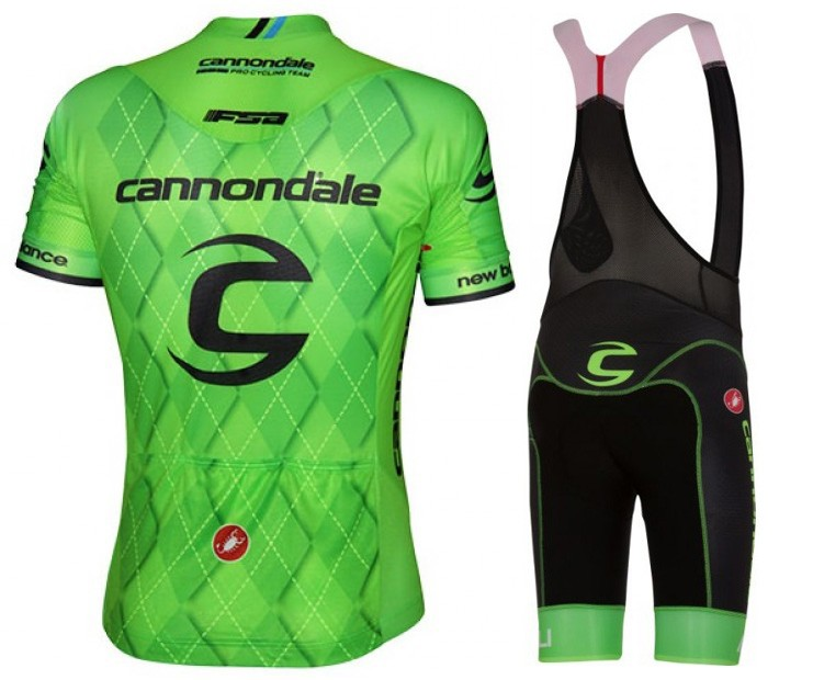 06d341df4 2016 Cannondale-Garmin Team Green Pro Cycling Jersey And Bib Shorts