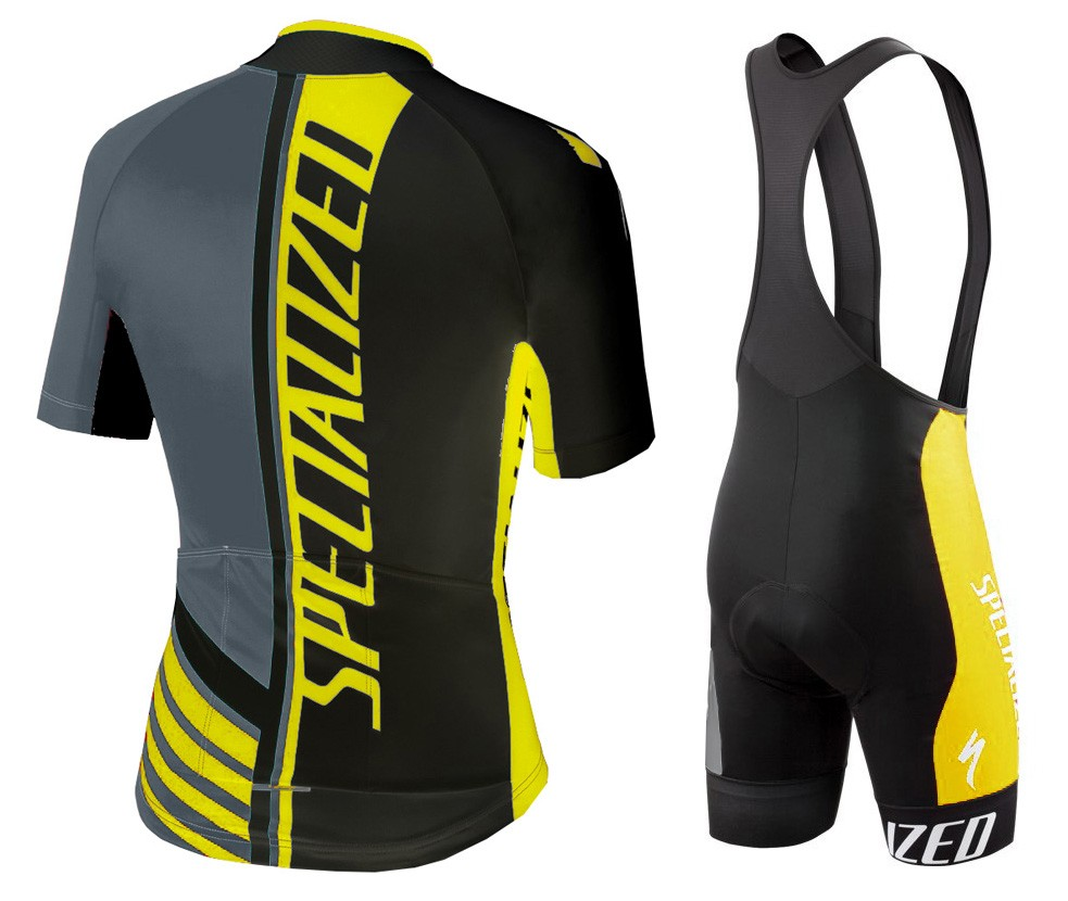 2016 SPED Pro Team SZK Black-Grey-Yellow Cycling Jersey ...
