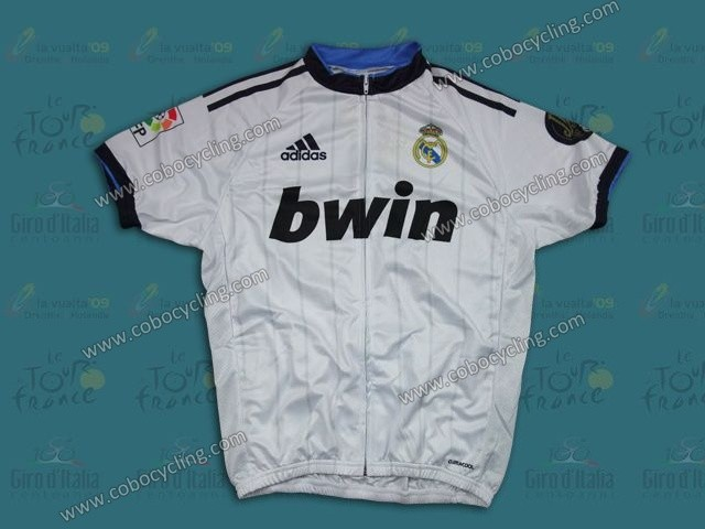 new arrivals f5428 dc8ef 2013 Team Real Madrid White Cycling Jersey