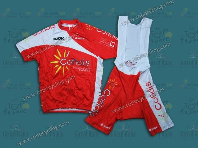 23173df0c 2013 Team Cofidis Red Cycling Jersey And Bib Shorts