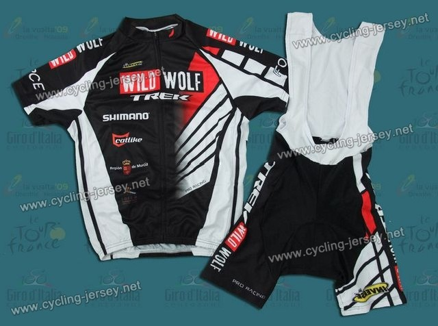 211522dc2 2012 Trek Wild Wolf Black And White Cycling Jersey and Bib Shorts Set