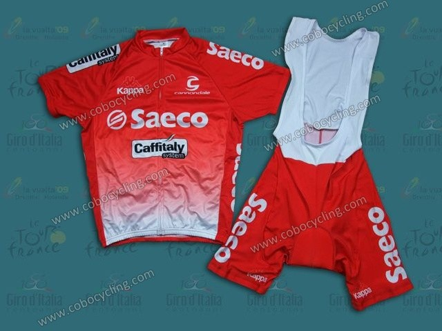 abe682c8b 2014 Team Saeco Red Cycling Jersey And Bib Shorts