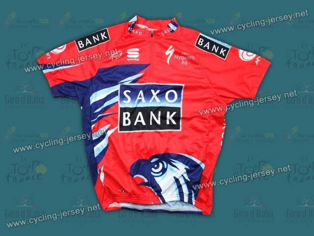 2012 Saxo Bank Red Cycling Jersey and Bib Shorts Set