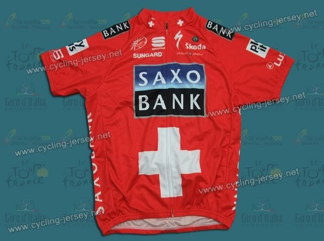 2010 Saxo Bank Swiss Champion Cycling Jersey cdc79789a