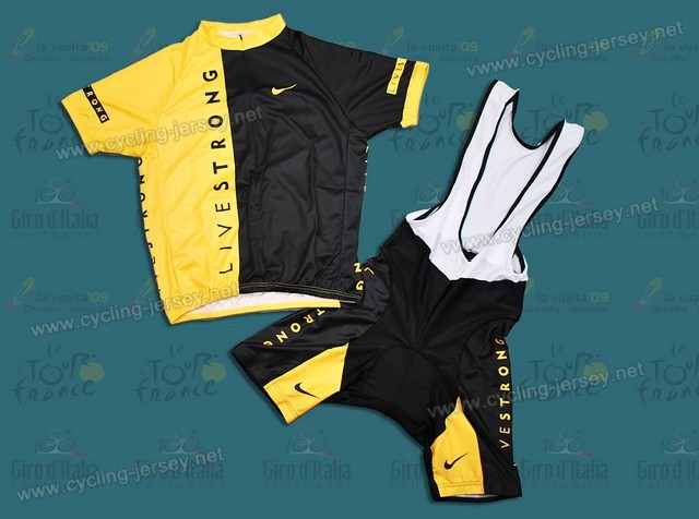 09 Livestrong Cycling Jersey And Bib Shorts Set