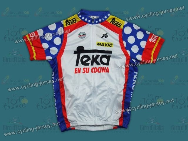 throwback teka spain champion cycling jersey. Black Bedroom Furniture Sets. Home Design Ideas