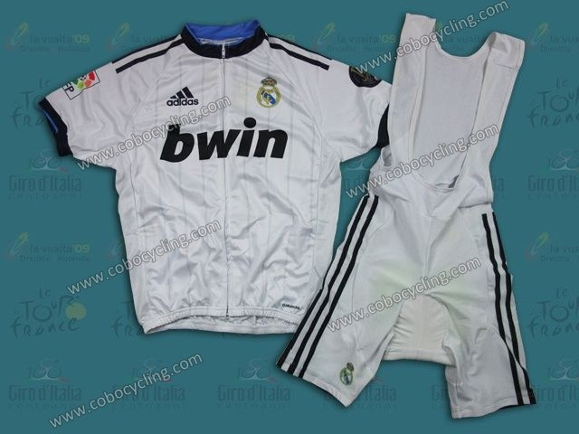 35d104e9c2d 2013 Team Real Madrid White Cycling Jersey And Bib Shorts