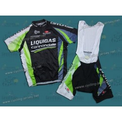 2011 Liquigas Cannondale Black Cycling Jersey and Bib Shorts Set