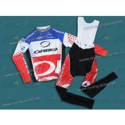 2011 Orbea France Champion Thermal Cycling Long Sleeve Jersey and Bib Pants Set