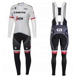 2017 Trek Segafredo Tour de France Long Sleeve Cycling Jersey And Bib Pants Set