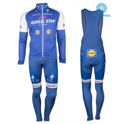 2017 Quick-Step Floors Thermal Cycling Jersey And Bib Pants Set